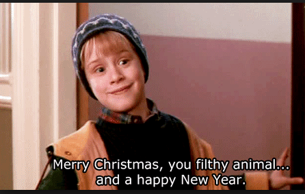 merry christmas ya filthy animal and a happy new year