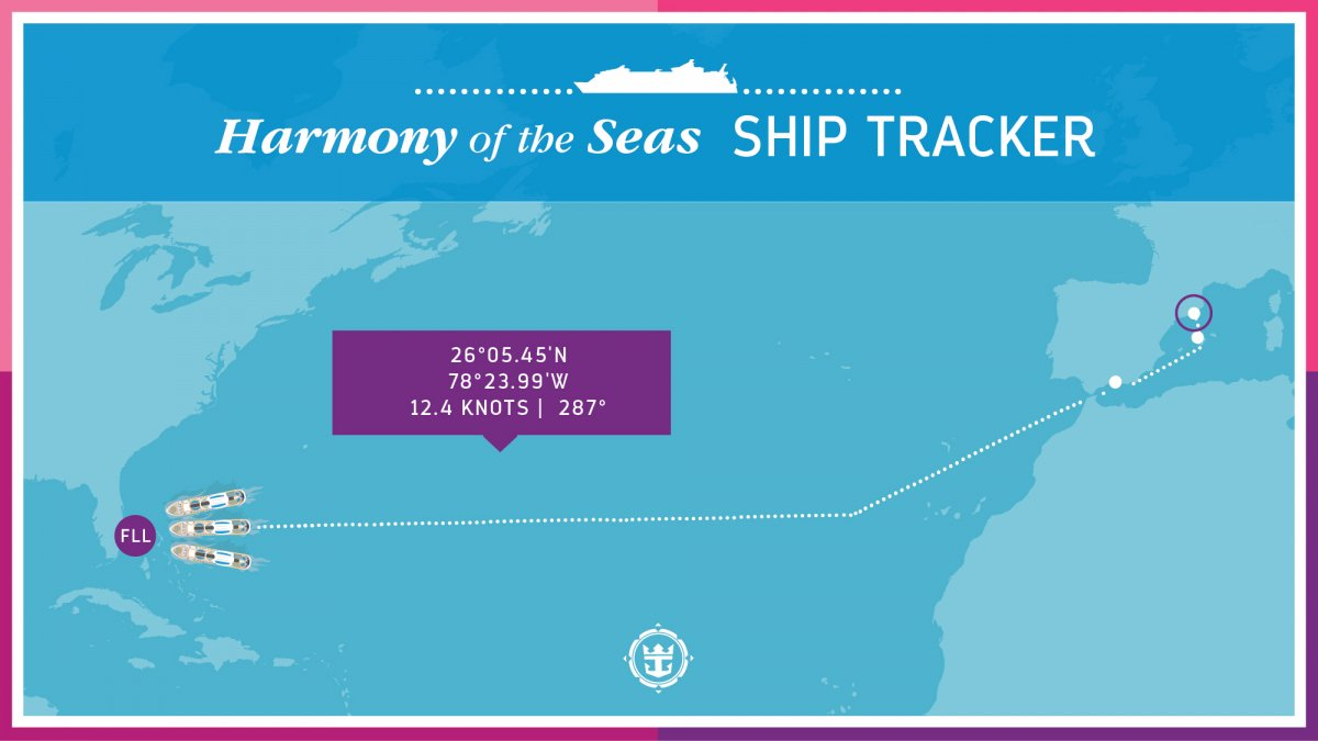Harmony Of The Seas Ship Tracker Royal Caribbean Blog - Royal caribbean ship tracker