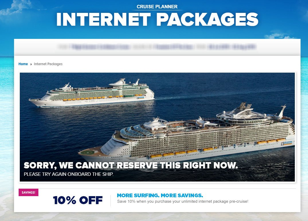 Internet Packages Royal Caribbean Blog - Internet connection on cruise ships