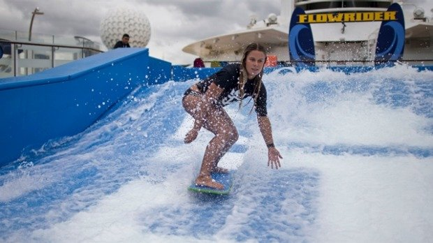 Everything About The Flowrider On Royal Caribbean Ships