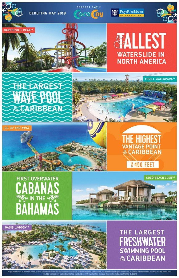 royal caribbean officially opens perfect day island experiences for