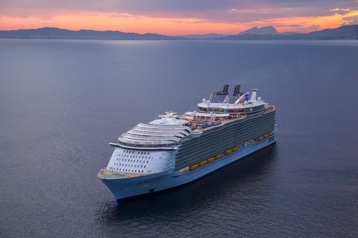 Explore The Beauty Of Caribbean: Aerial Photos Of Royal Caribbean's Harmony Of The Seas