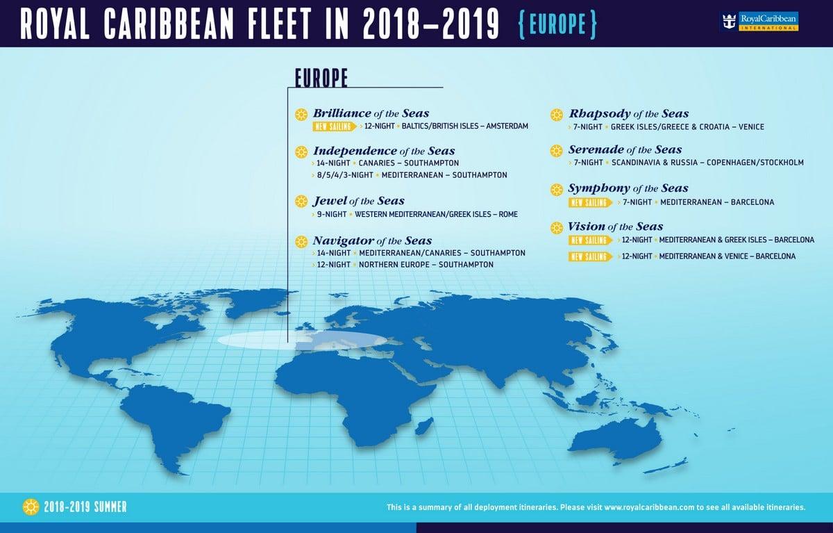 Royal Caribbean Announces 2018 European Itineraries Royal Caribbean Blog