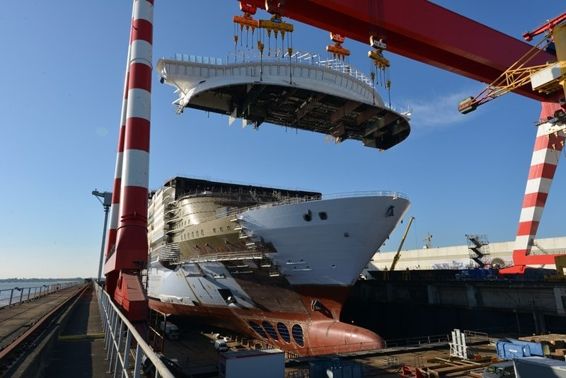 Αποτέλεσμα εικόνας για Symphony of the Seas Completes Construction Milestone