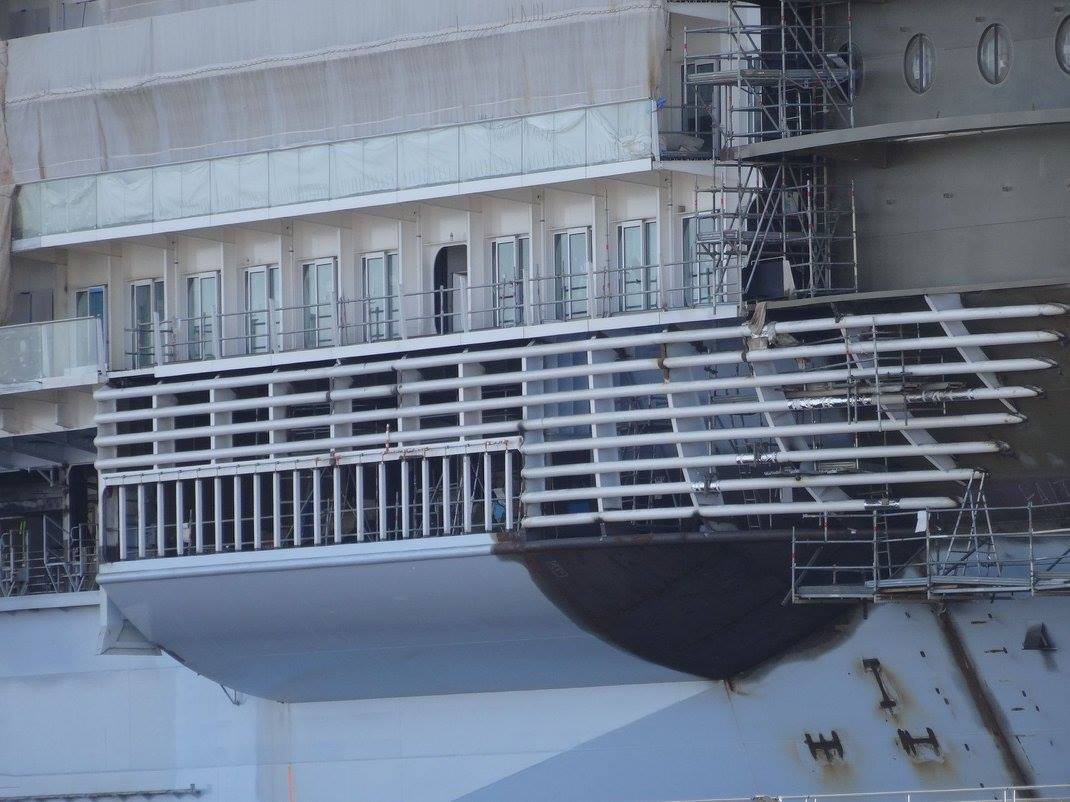Symphony of the seas construction photo update royal for Caribbean cruise balcony