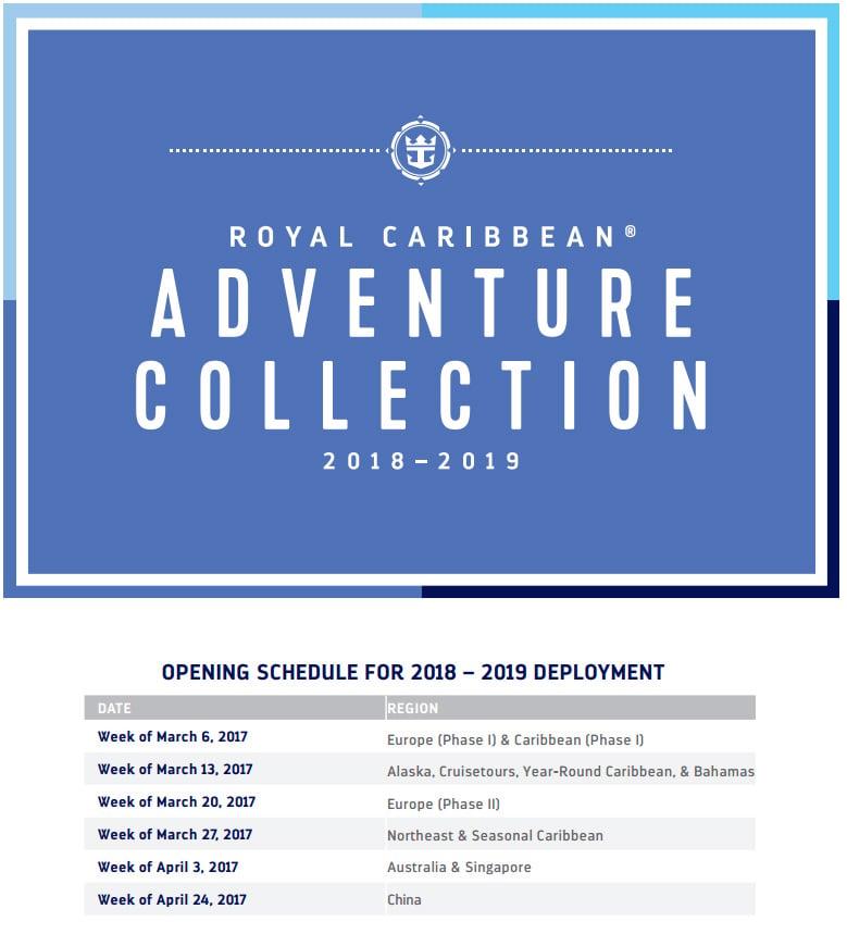 Royal Caribbean announces 2020-2021 deployment opening ...