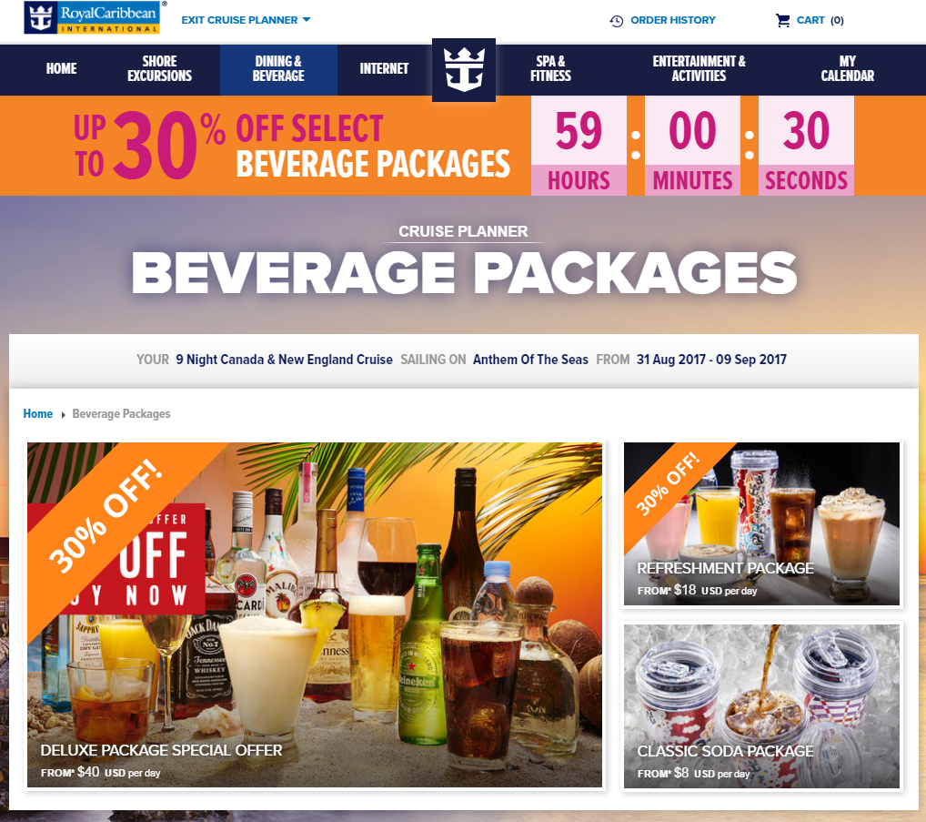 Drink Packages | Royal Caribbean Blog
