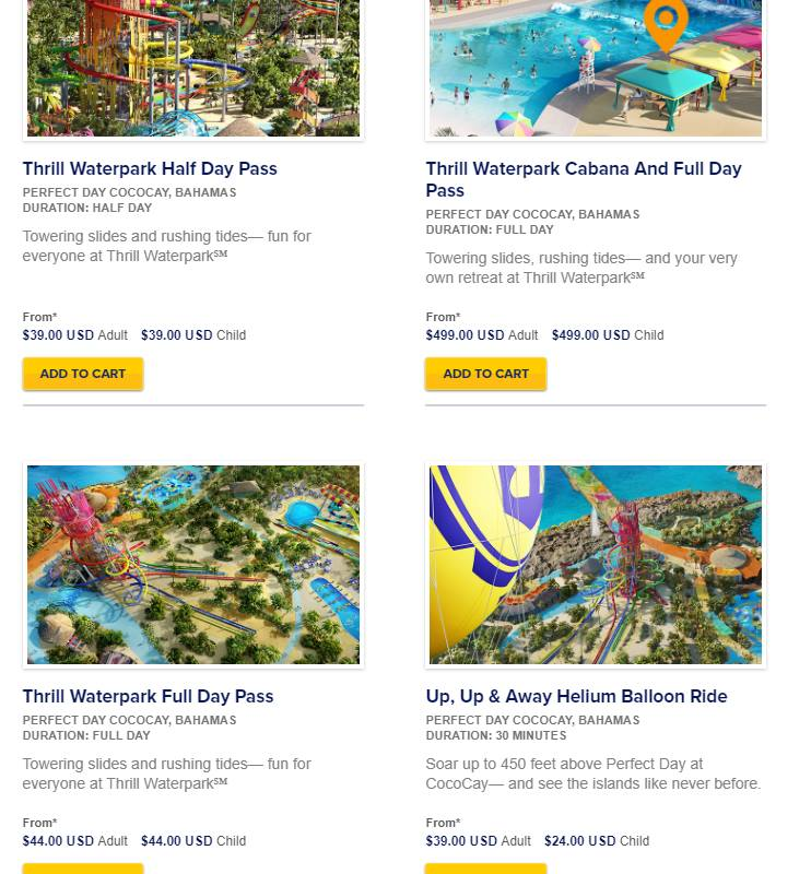 royal caribbean opens perfect day at cococay excursion bookings