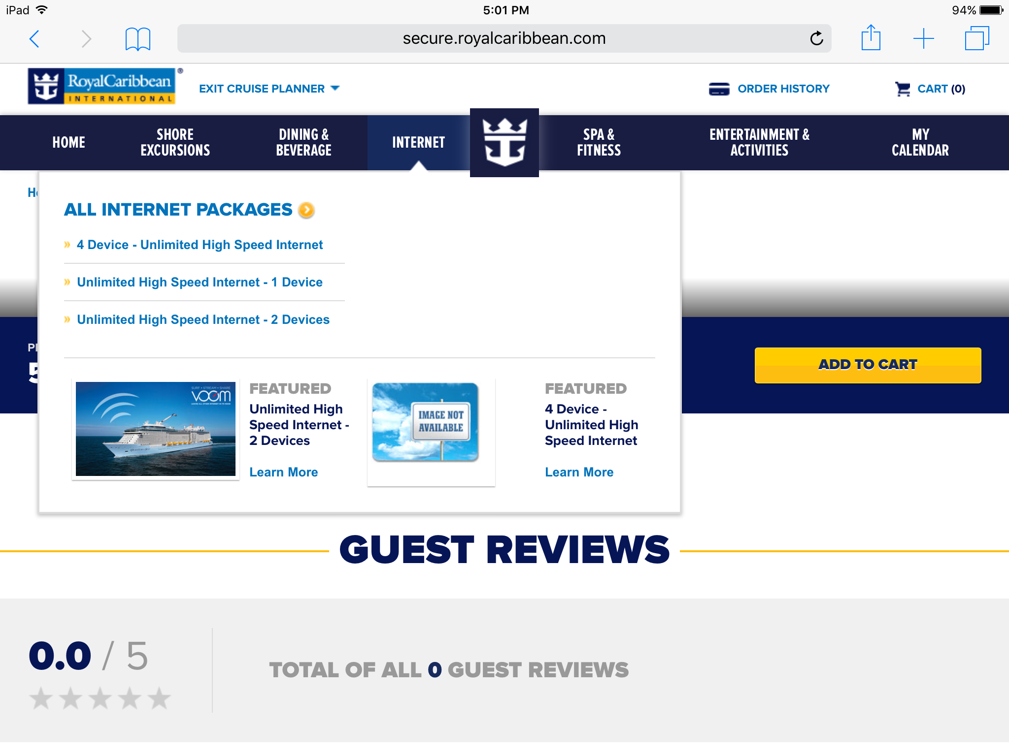 Internet packages | Royal Caribbean Blog