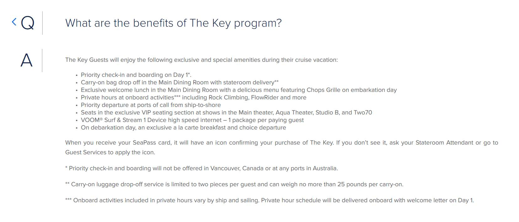 The Key | Royal Caribbean Blog