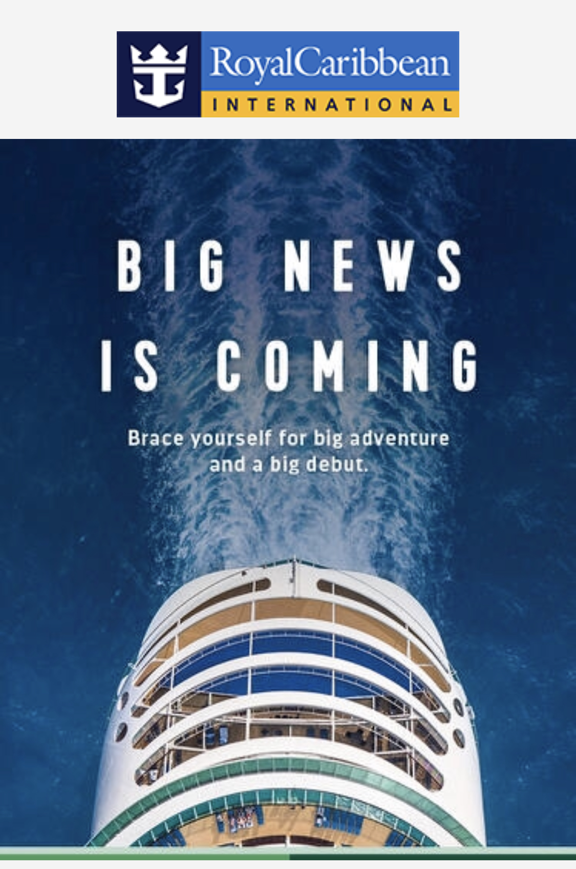 Royal Caribbean teases upcoming announcement in Australia