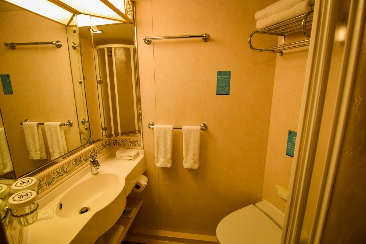 fascinating bathroom ocean view | Category 2B Spacious Ocean View Stateroom with Balcony on ...