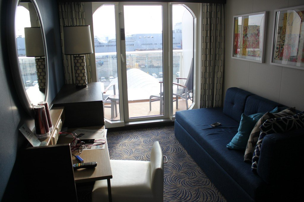 Interior vs balcony staterooms on a royal caribbean cruise for Cruise balcony vs suite