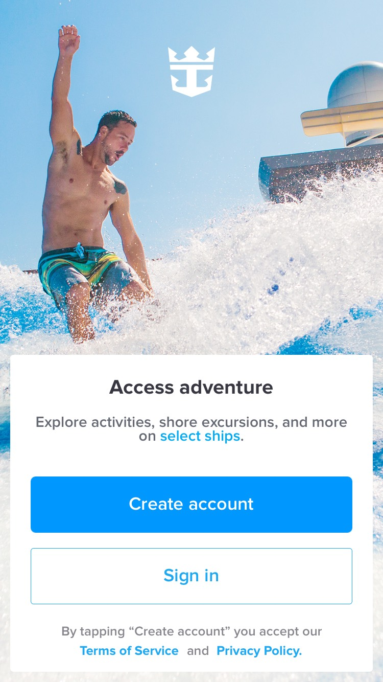 Royal Caribbean updates new smartphone app and enables login