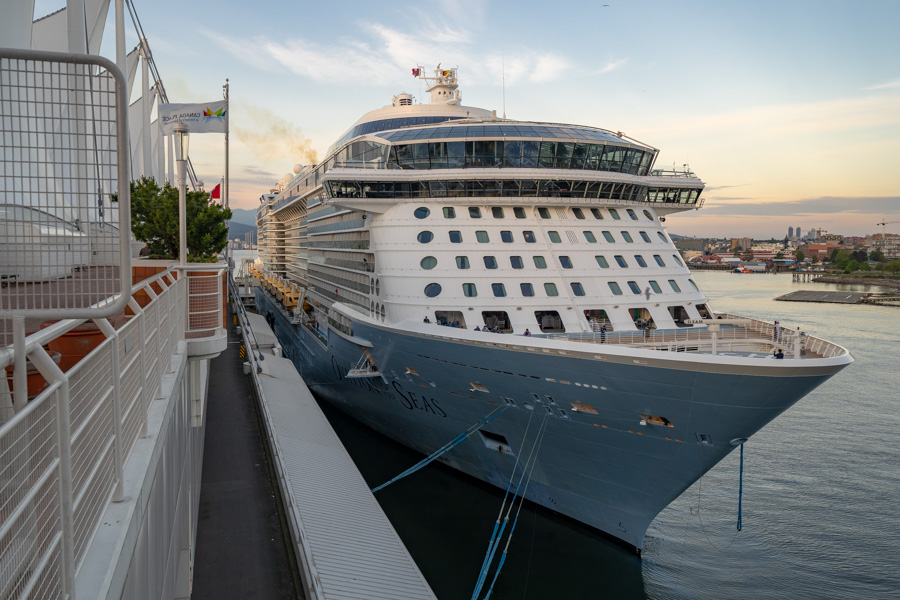 235efc79ccf8 Ovation made history earlier in the day when she became the largest cruise  ship to visit Victoria