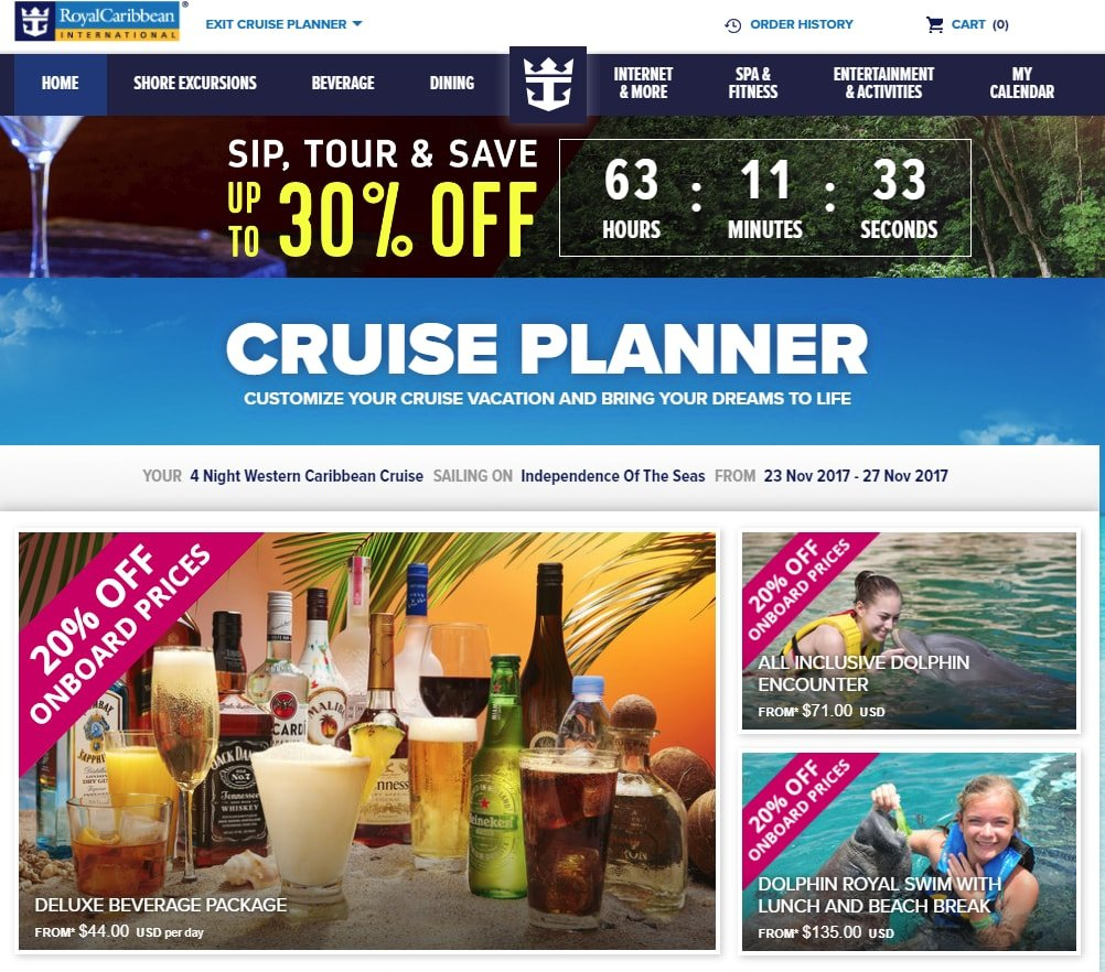 Royal caribbean unofficial blog about royal caribbean cruise line the weekend cruise planner sale promises savings on certain shore excursions and drink package purchases guests can check which discounts if any falaconquin