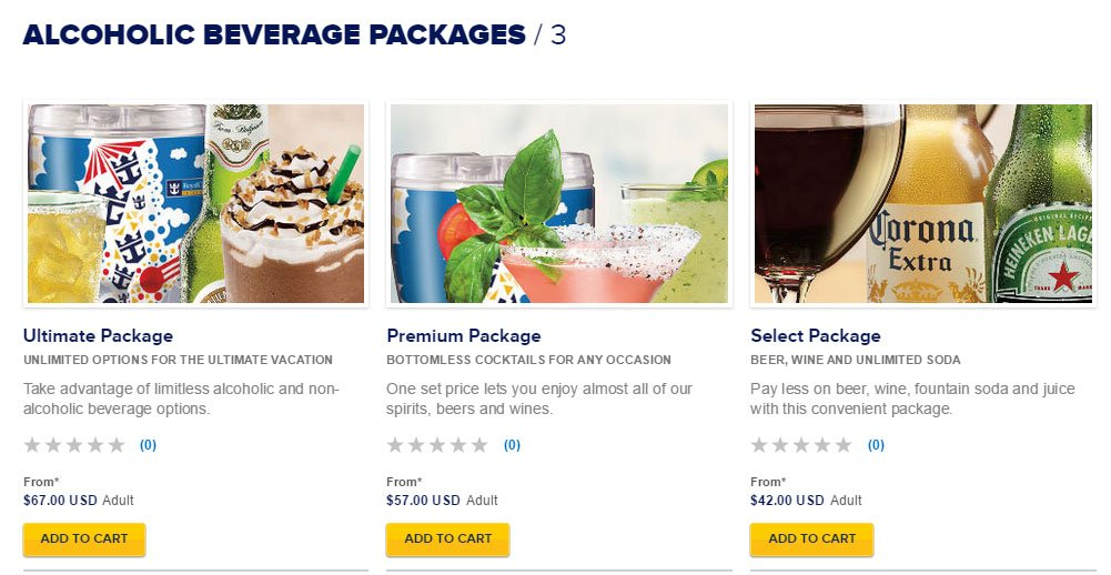 Royal Caribbean Adjusts Unlimited Drink Packages Pricing Royal - Allure of the seas drink package