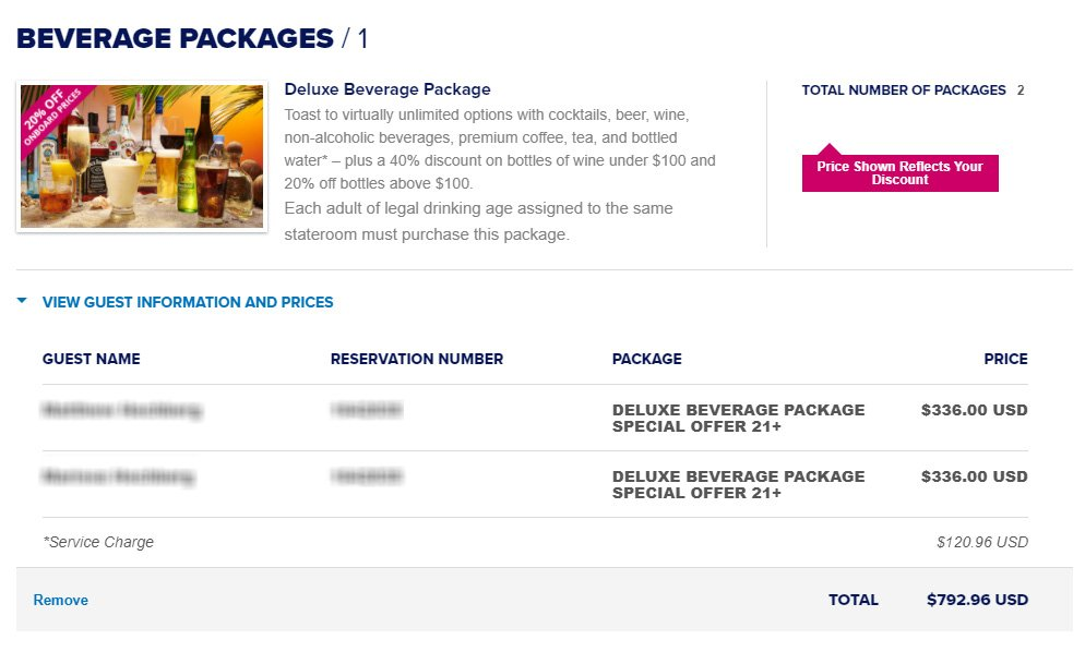 Unlimited alcohol packages | Royal Caribbean Blog