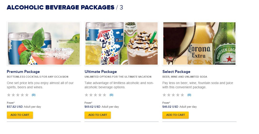 Carnival Drink Package Price