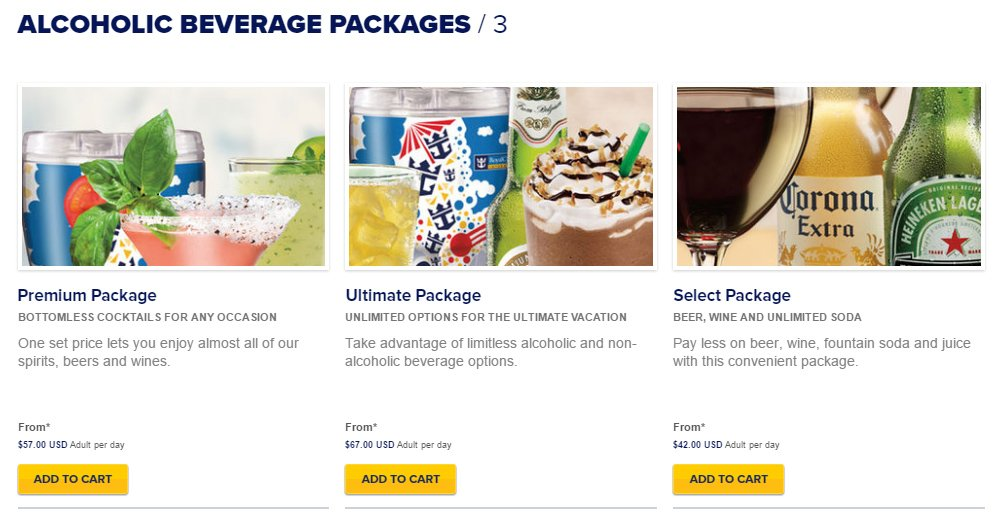 How Much Do Drink Packages Cost On Royal Caribbean