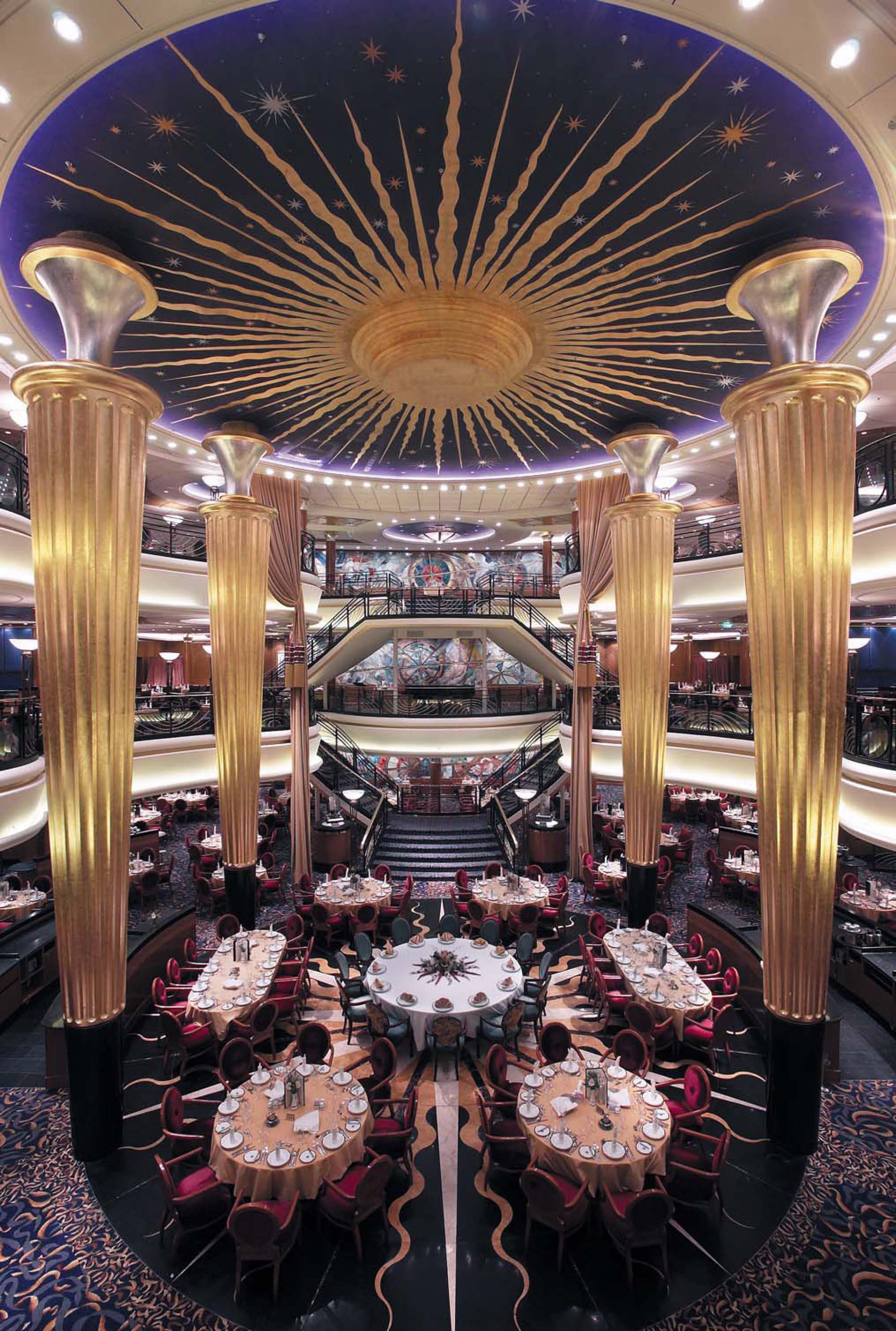 Design Beauty  Main dining room on Royal Caribbean s Explorer of the Seas. Design Beauty  Main dining room on Royal Caribbean s Explorer of