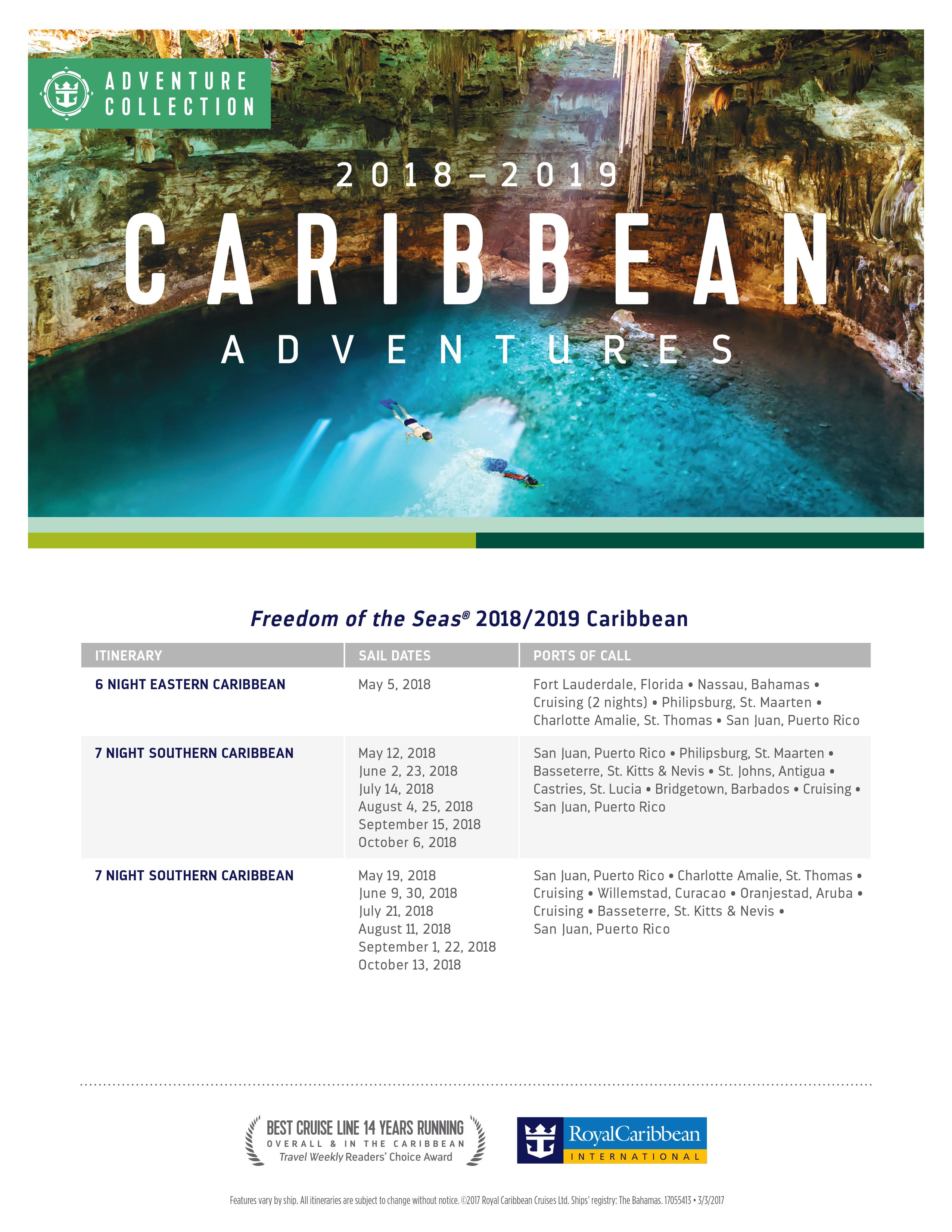 Royal Caribbean To Relocate Freedom Of The Seas To San Juan For 2018 2019 Season Royal