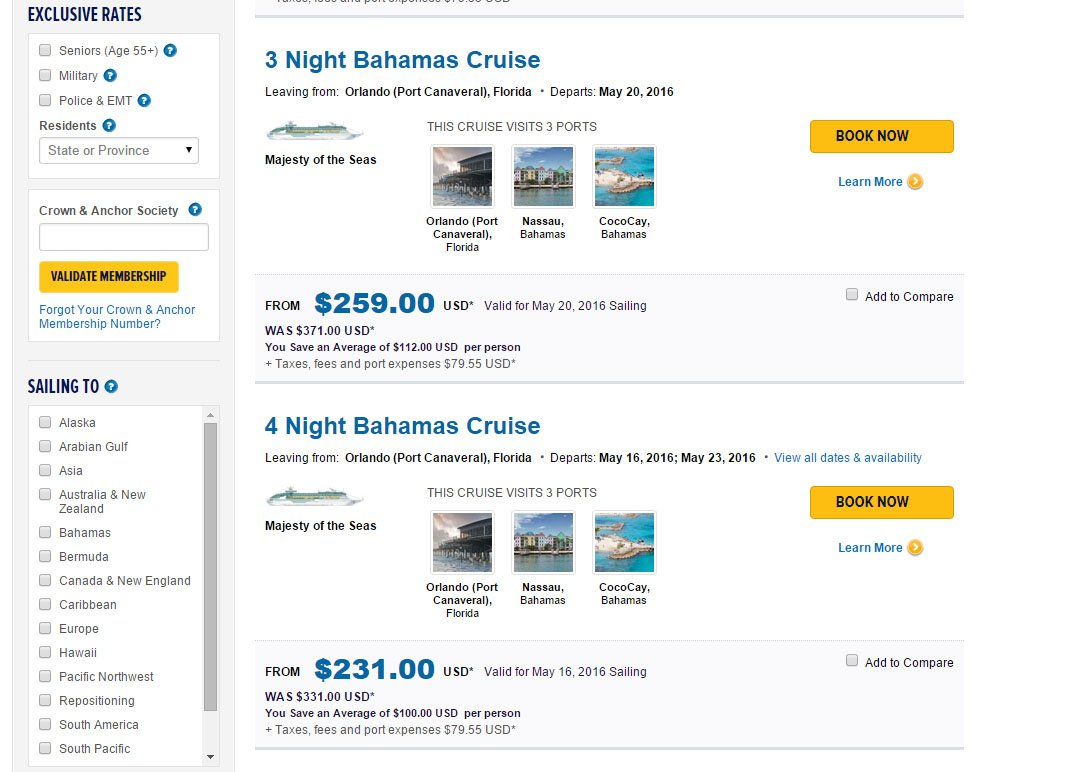 Royal Caribbean Offering New Majesty Of The Seas Sailings After - Caribbean cruise prices