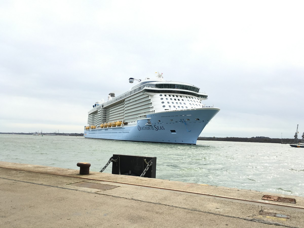 Photos Of Ovation Of The Seas Arriving In Southampton