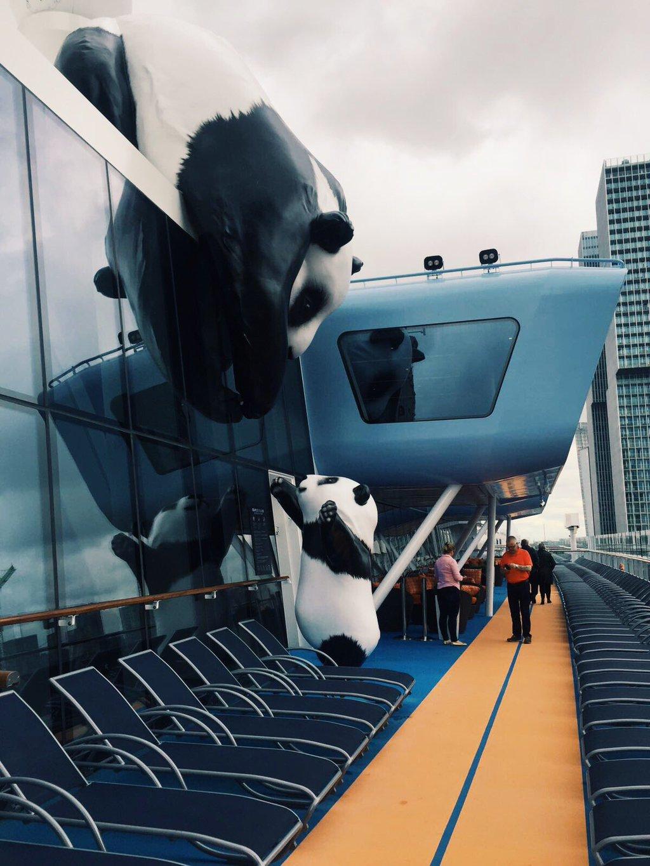 Larger Than Life Panda Art Work Installed On Royal