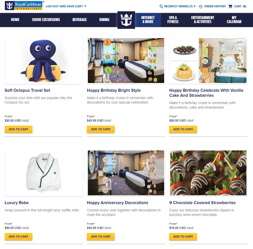 For Years Royal Caribbean Has Offered Stateroom Decoration Options From Its Gifts Website But The Option To Have Cruise Line Decorate Your