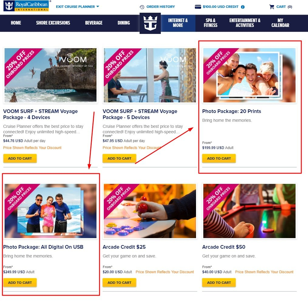 Royal Caribbean Adds Photo Packages To Cruise Planner Precruise - Caribbean cruise prices