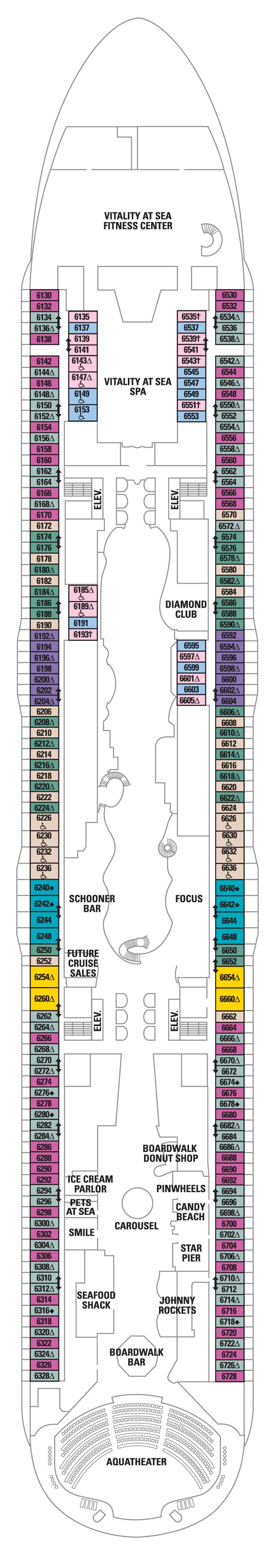 Deck 6 Allure Of The Seas Deck Plans Royal Caribbean Blog