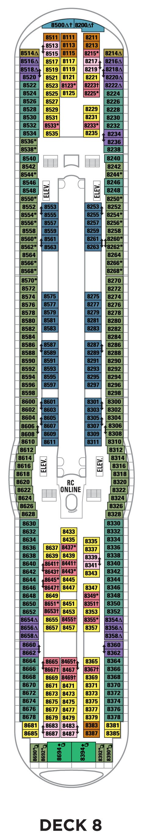 Deck 8 Explorer Of The Seas Deck Plans Royal Caribbean