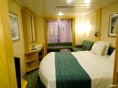 Everything About Royal Caribbeans Promenade View Staterooms - Cabins on independence of the seas cruise ship