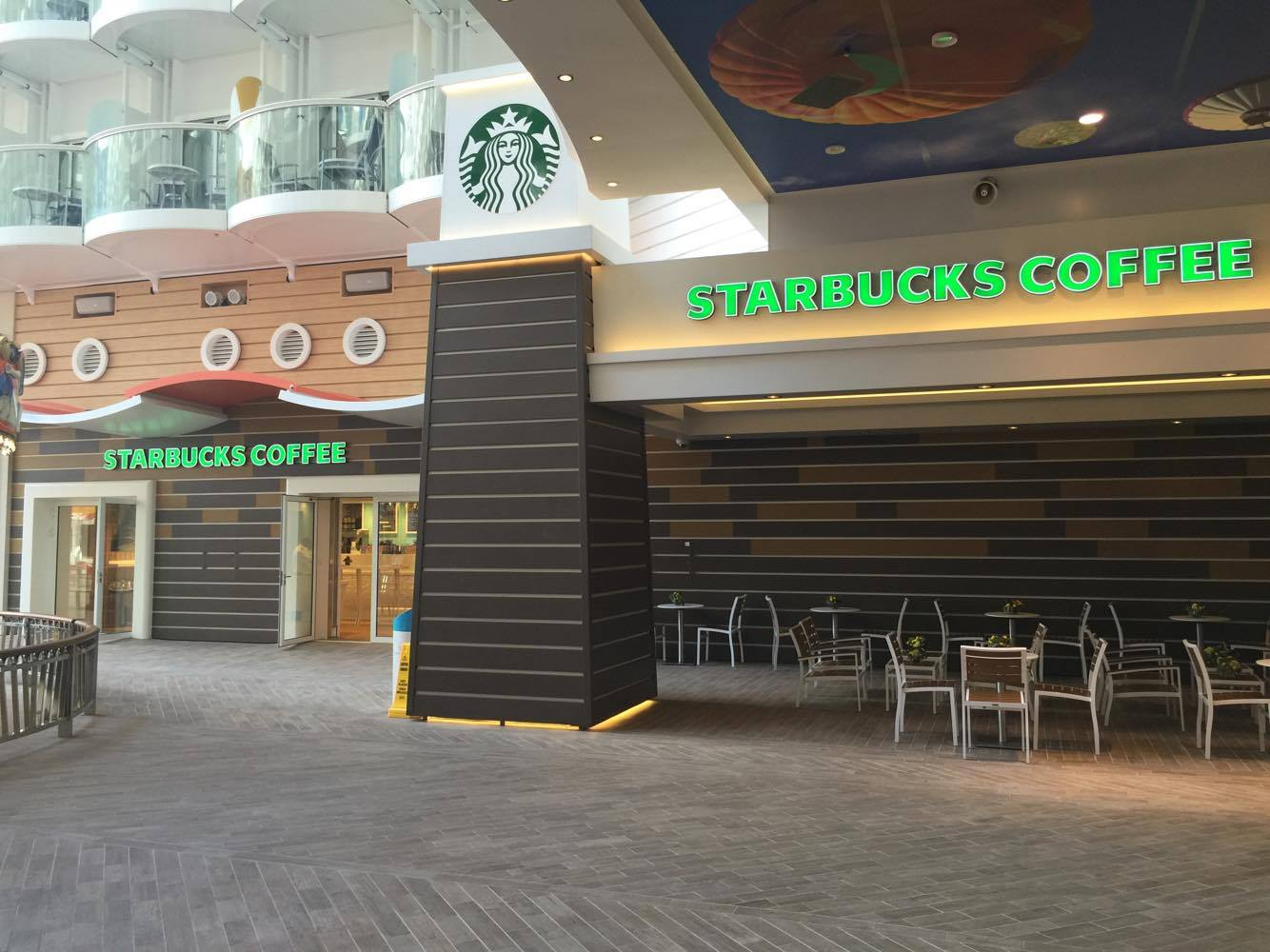 First Look Starbucks Opens On Royal Caribbean S Harmony