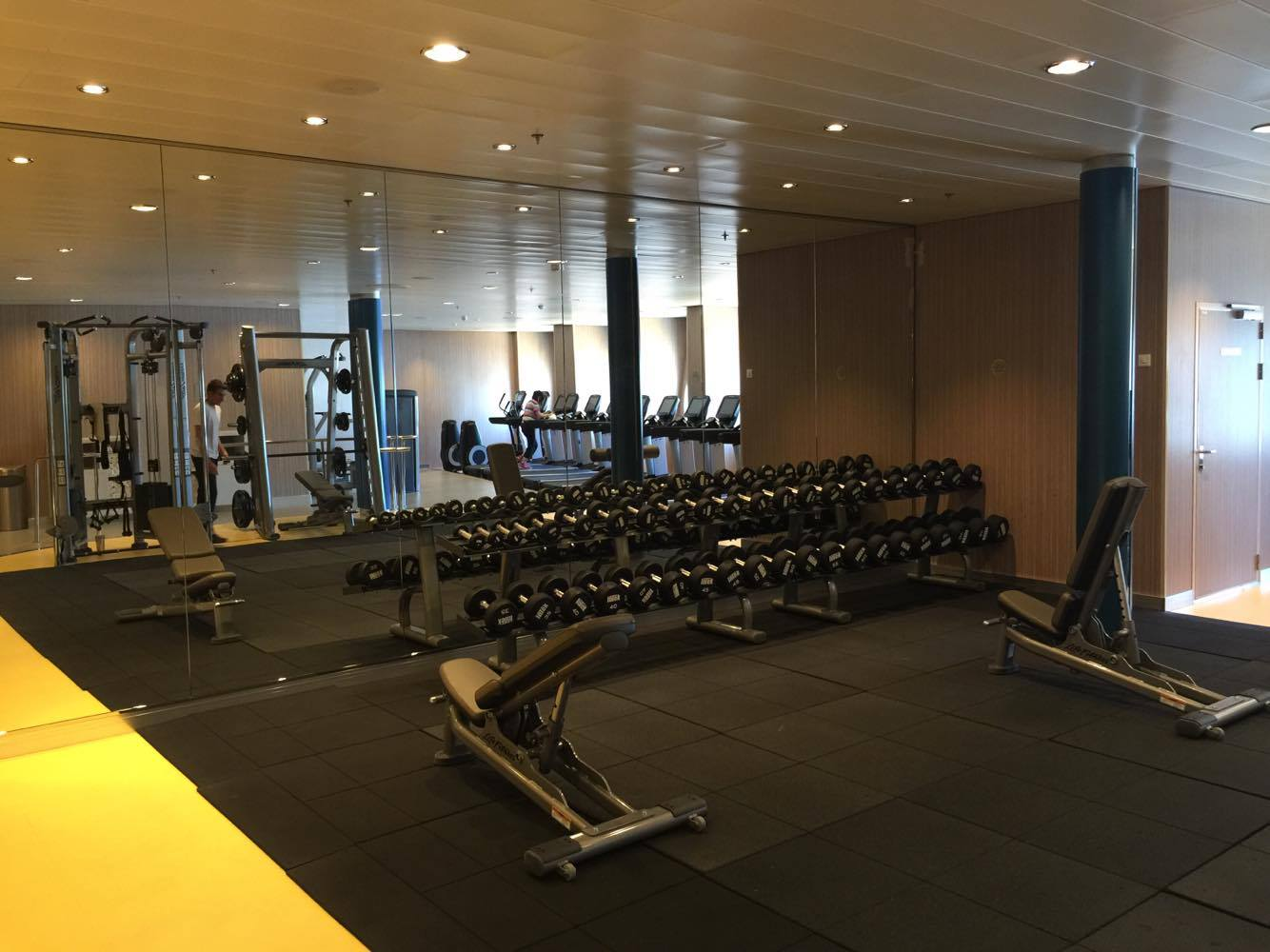 first look  fitness center on royal caribbean u0026 39 s harmony of