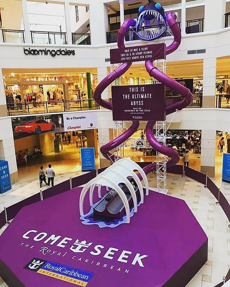 royal caribbean creates ultimate abyss slide in miami mall