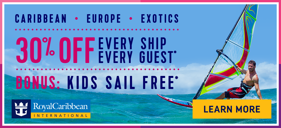Royal Caribbean Will Offer Off Every Ship Every Guest Plus - Kids sail free