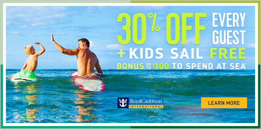 Royal Caribbean Offering Off All Guests And Kids Sail Free - Kids sail free
