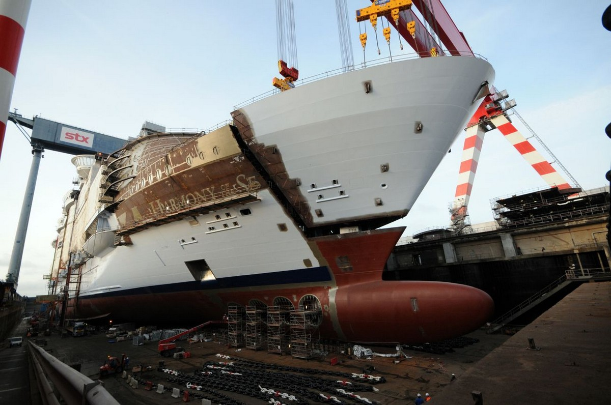Harmony Of The Seas Construction Reaching A Milestone