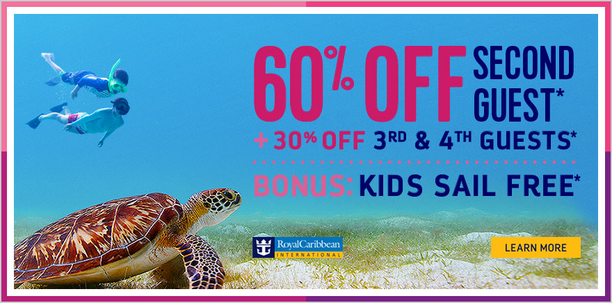 Royal Caribbean Offering Off Second Guest Kids Sail Free And - Kids sail free