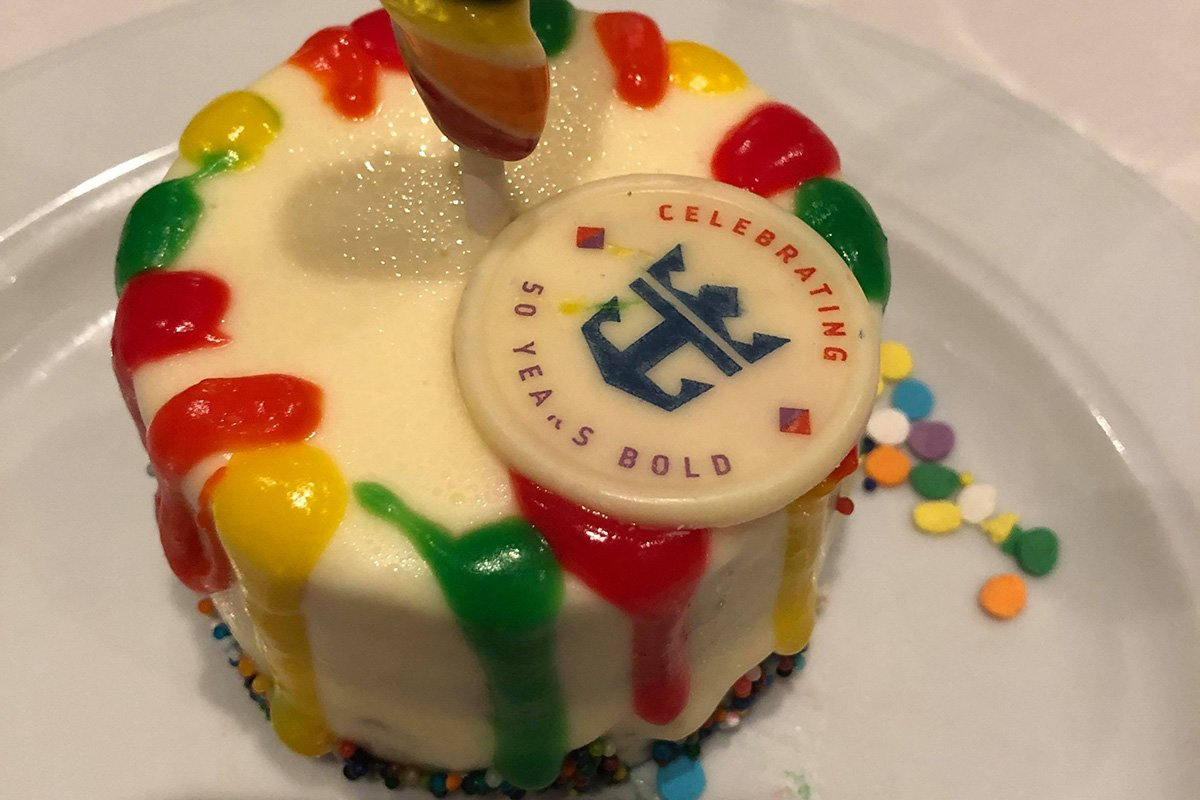 Sensational Spotted 50Th Celebration Birthday Cake Royal Caribbean Blog Funny Birthday Cards Online Eattedamsfinfo