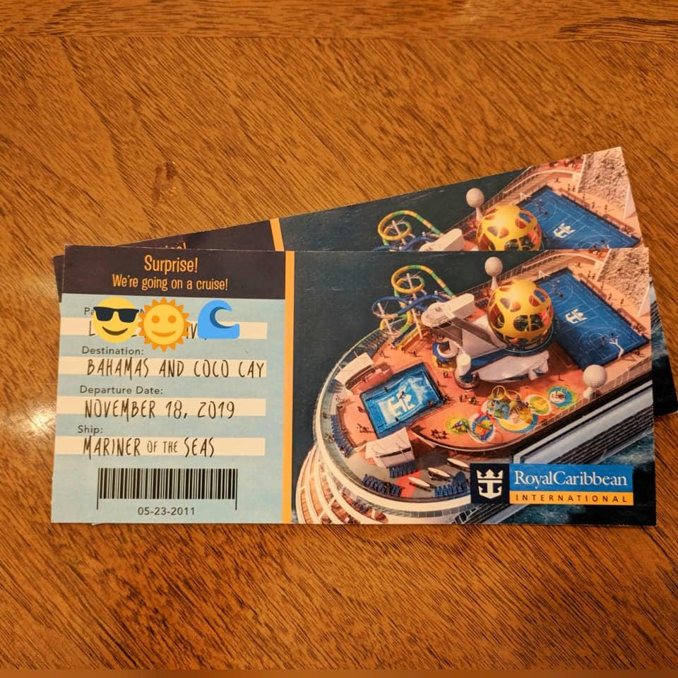 Free Printable Surprise Royal Caribbean Cruise Ticket Template Royal Caribbean Blog