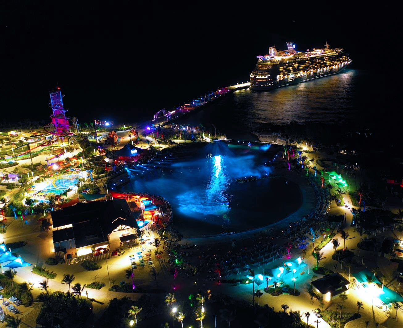 Royal Caribbean holds first late night visit Perfect Day at CocoCay