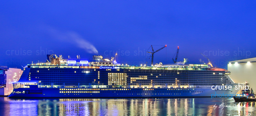 Cruises From Southampton >> Beautiful Ovation of the Seas float out photos   Royal Caribbean Blog