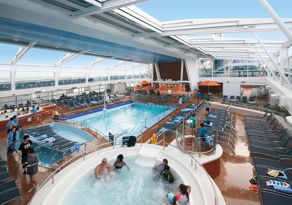 Royal Caribbeanu0027s Anthem Of The Seas Features Retractable Roof That Allows  Guests To Enjoy The Pool Year Round | Royal Caribbean Blog