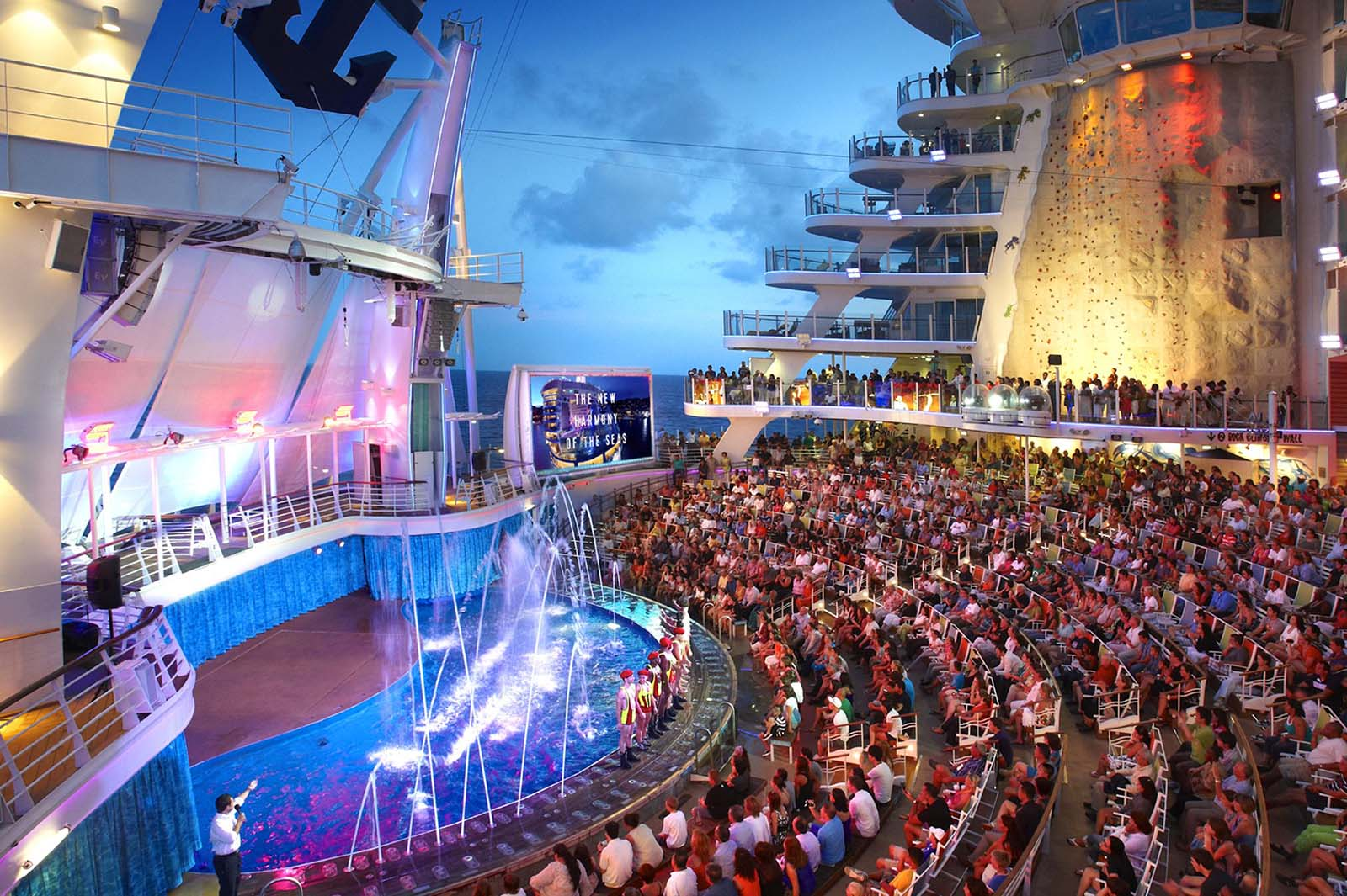 99 days of harmony aquatheater shows royal caribbean blog for Extreme pool show