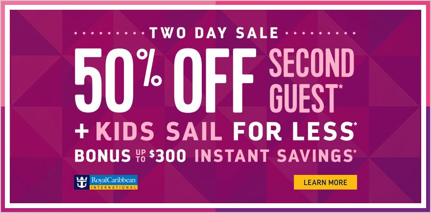 Royal Caribbean Two Day Sale offers up to $300 instant savings
