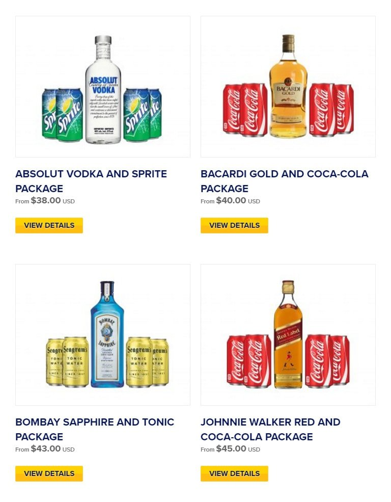 Royal Caribbean Adds Two New Bottled Alcohol Packages