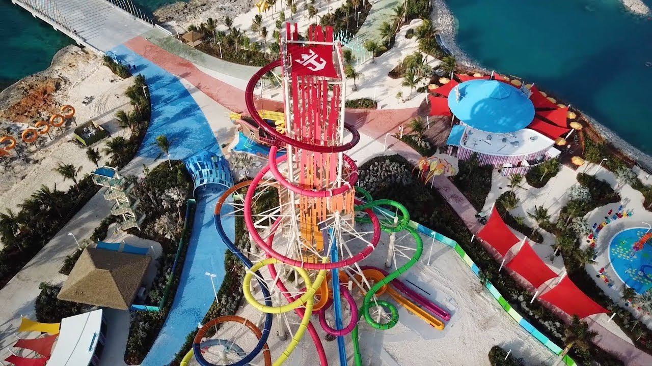 Video Royal Caribbean Constructs Thrill Waterpark At